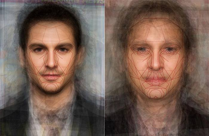 Bill Lytton's Imagine Averaging of Male Celebrities with Marquardt Mask Overlay