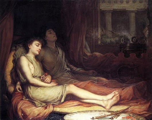Sleep and His Half-Brother Death, John William Waterhouse, 1874