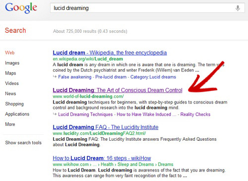 Lucid Dreaming on Google