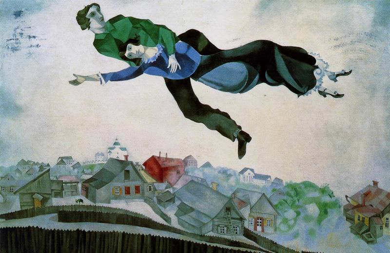 Over The Town by Marc Chagall