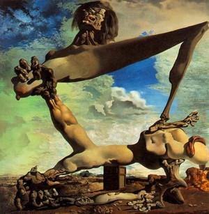 Soft Construction with Boiled Beans (Premonition of Civil War) by Salvador Dali